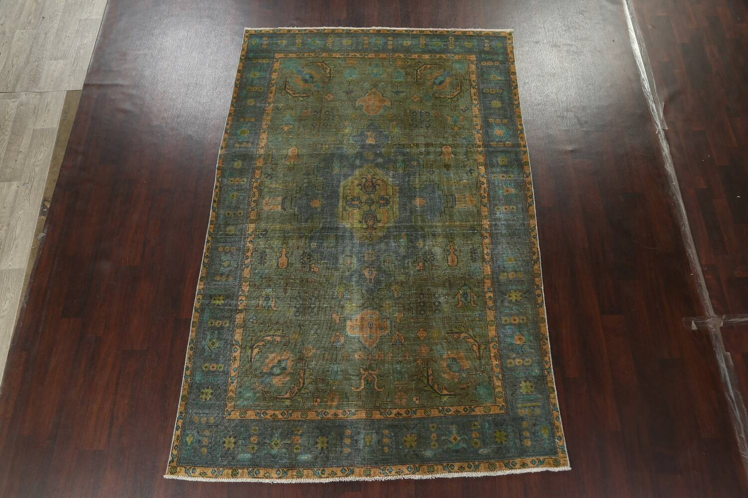 Antique Over-Dyed Tabriz Persian Area Rug 6x10 image 14