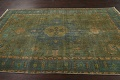Antique Over-Dyed Tabriz Persian Area Rug 6x10 image 13