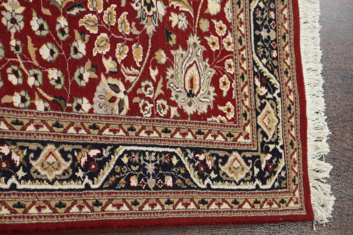 Vegetable Dye Aubusson Hand-Knotted Area Rug 4x6 image 10