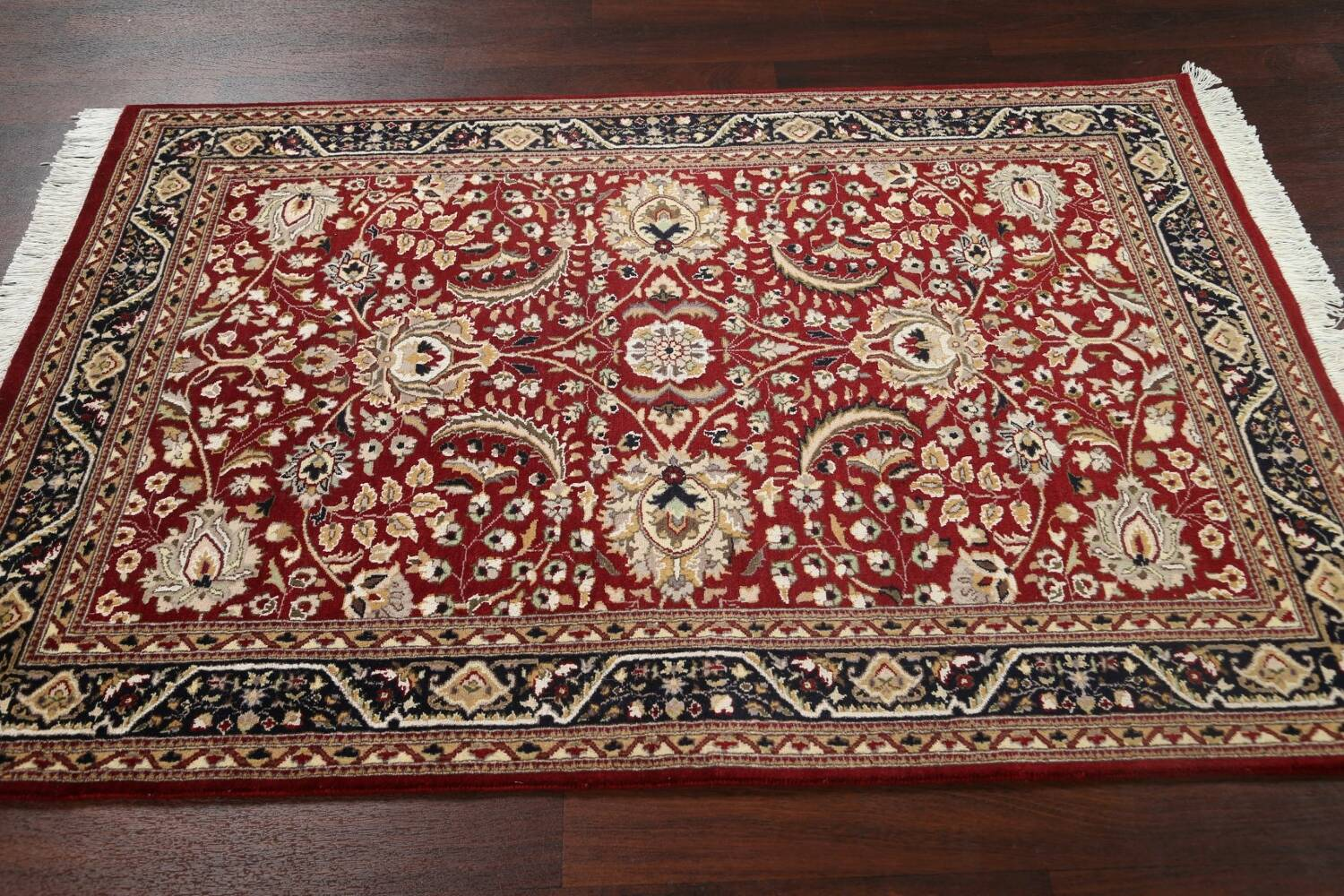 Vegetable Dye Aubusson Hand-Knotted Area Rug 4x6 image 12