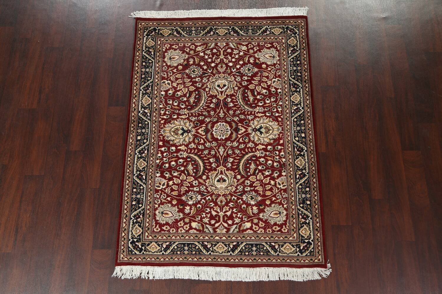Vegetable Dye Aubusson Hand-Knotted Area Rug 4x6 image 13