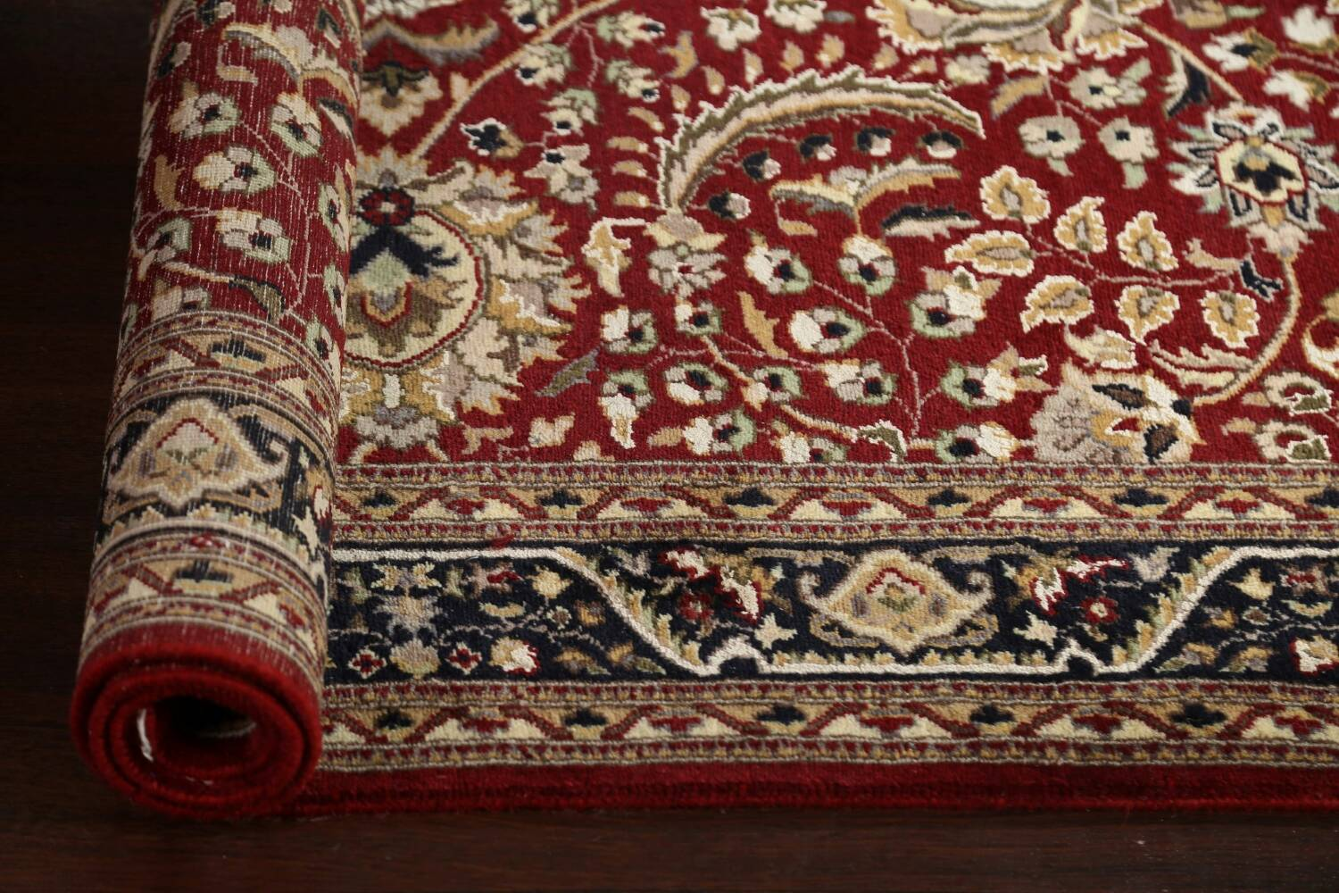 Vegetable Dye Aubusson Hand-Knotted Area Rug 4x6 image 14