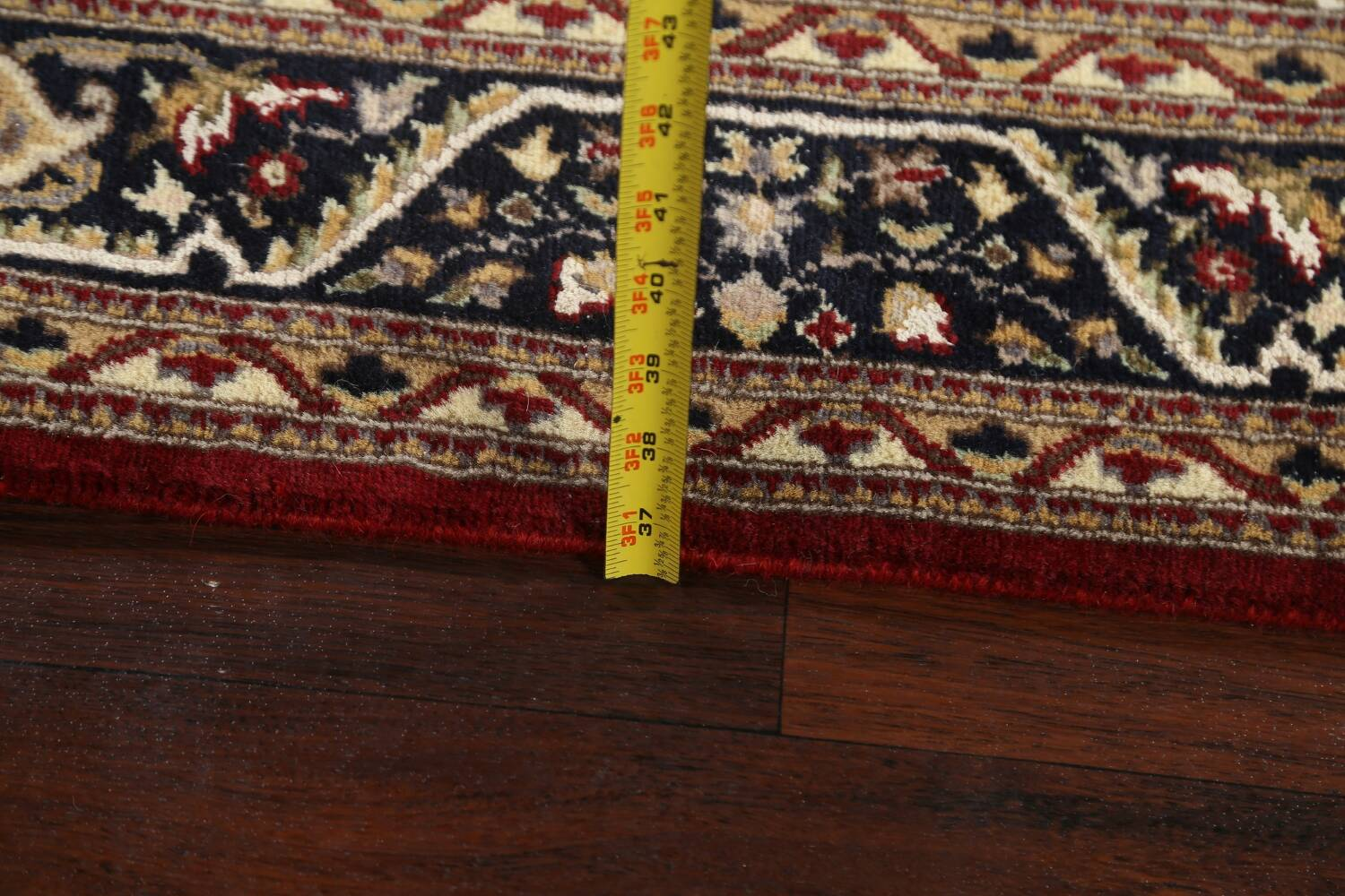 Vegetable Dye Aubusson Hand-Knotted Area Rug 4x6 image 16