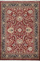Vegetable Dye Aubusson Hand-Knotted Area Rug 4x6 image 1