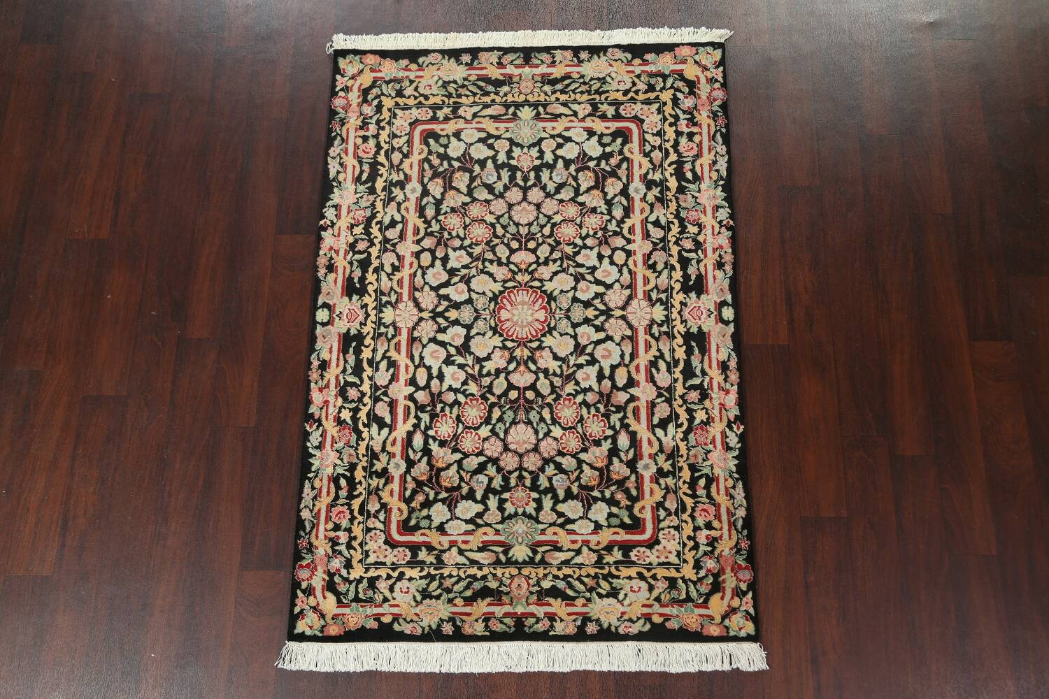 Vegetable Dye Aubusson Hand-Knotted Area Rug 4x6 image 2