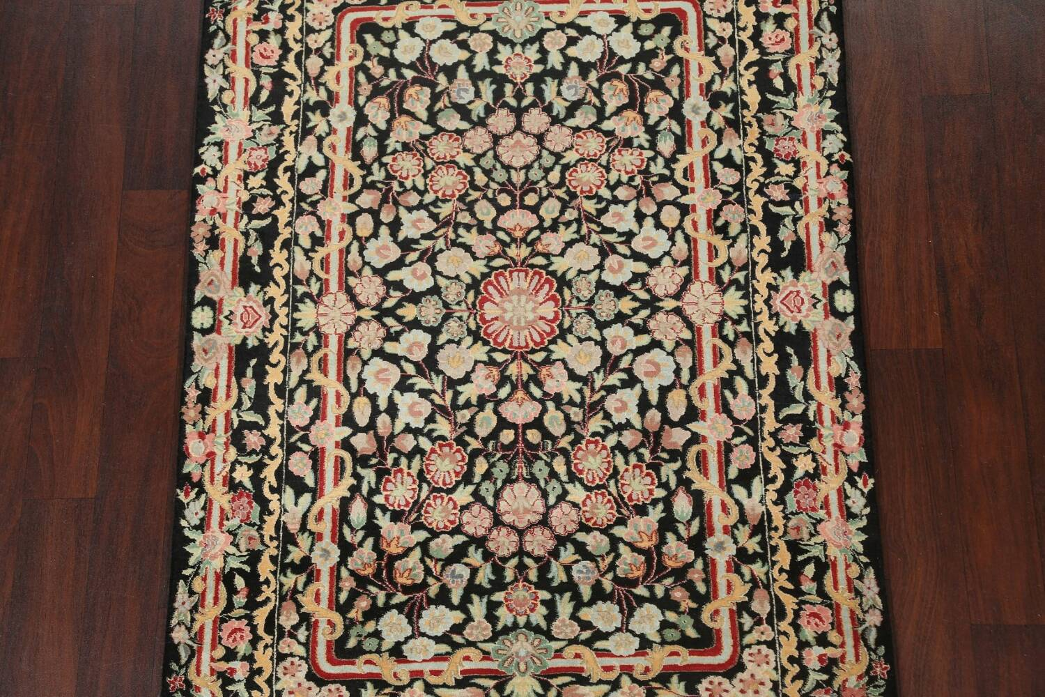 Vegetable Dye Aubusson Hand-Knotted Area Rug 4x6 image 3