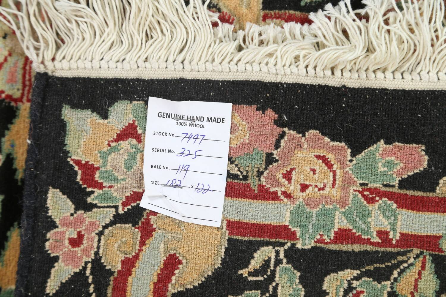 Vegetable Dye Aubusson Hand-Knotted Area Rug 4x6 image 18