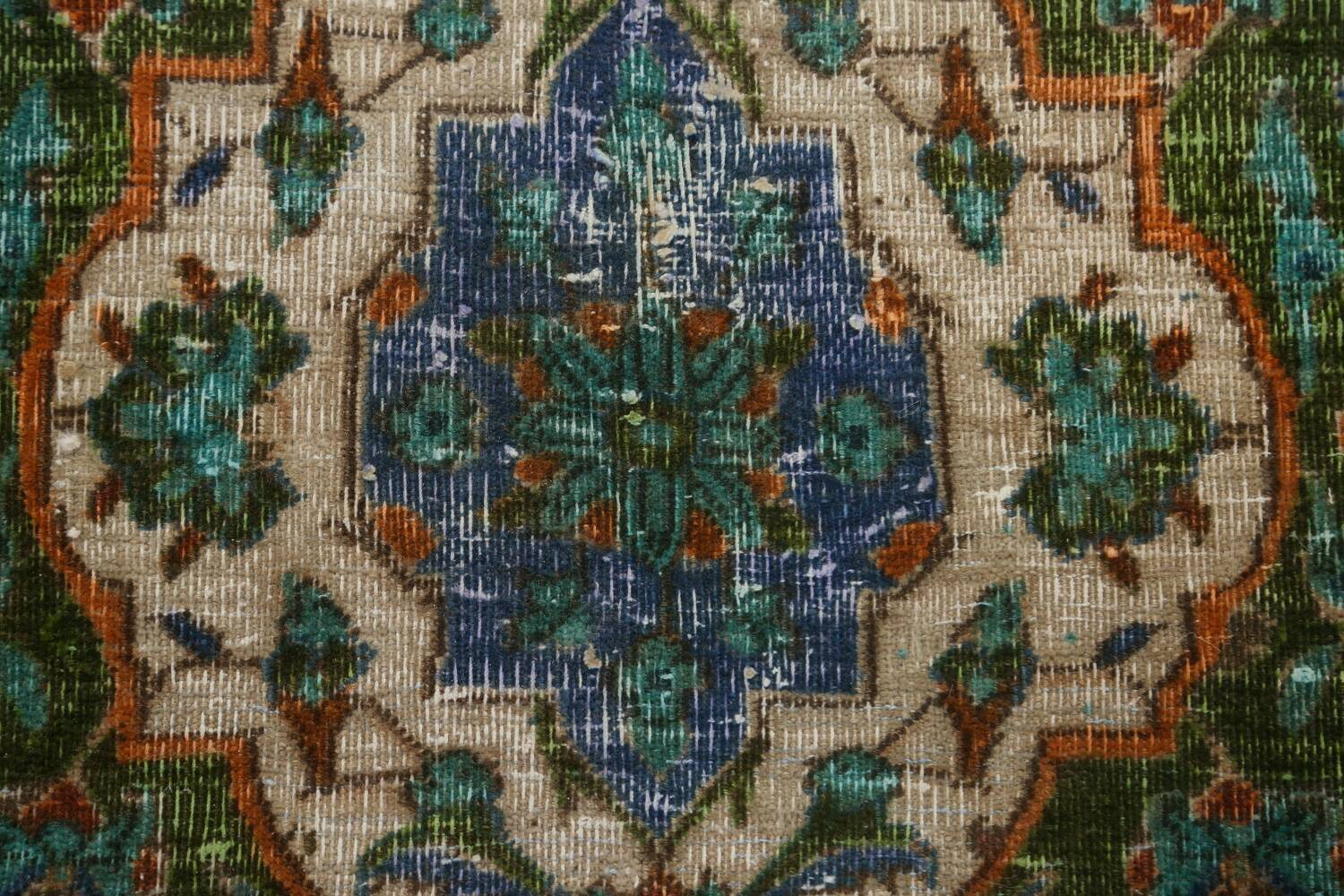 Antique Over-Dyed Kashan Persian Area Rug 8x11 image 8