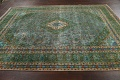 Antique Over-Dyed Kashan Persian Area Rug 8x11 image 12