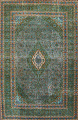 Antique Over-Dyed Kashan Persian Area Rug 8x11 image 1