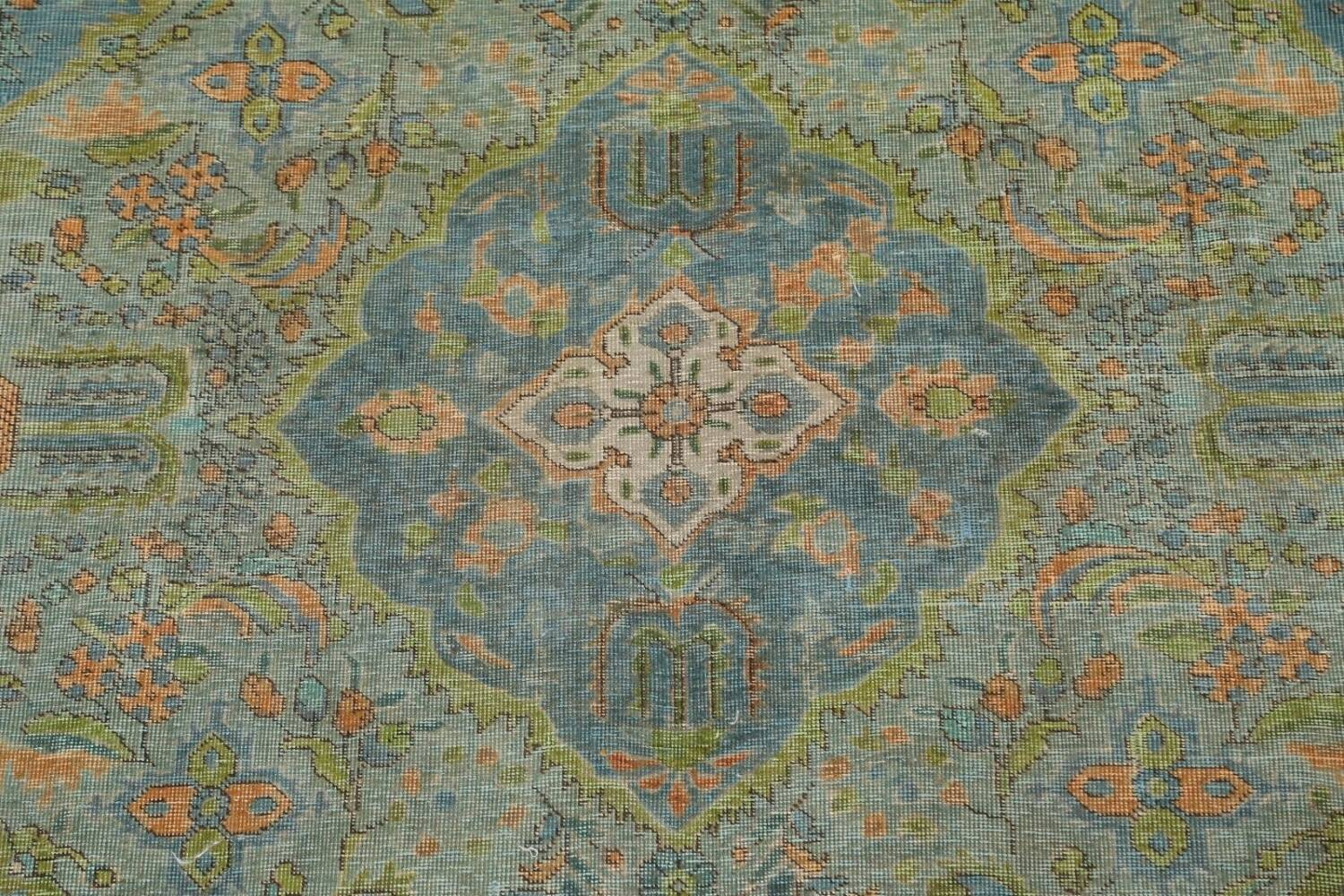 Antique Over-Dyed Tabriz Persian Area Rug 8x11 image 4