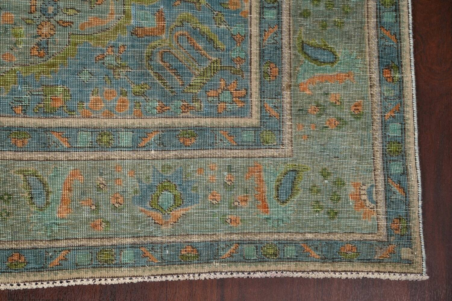 Antique Over-Dyed Tabriz Persian Area Rug 8x11 image 6