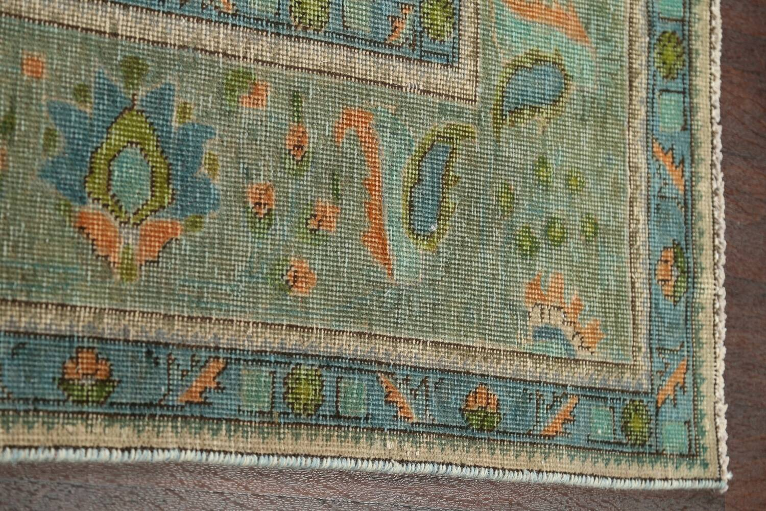 Antique Over-Dyed Tabriz Persian Area Rug 8x11 image 10