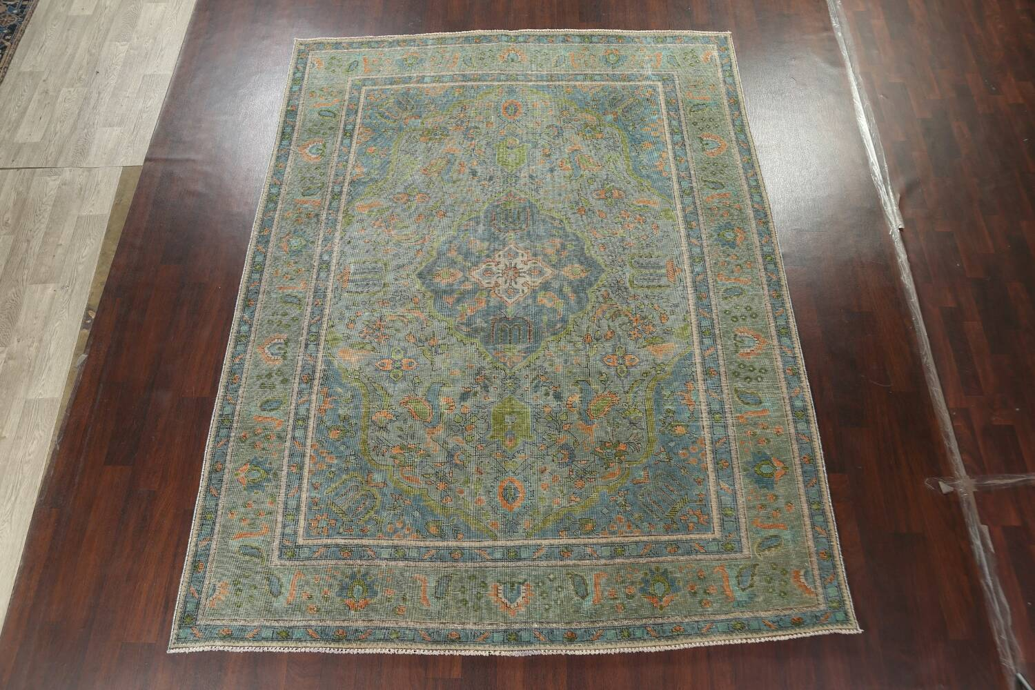 Antique Over-Dyed Tabriz Persian Area Rug 8x11 image 13