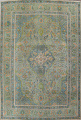 Antique Over-Dyed Tabriz Persian Area Rug 8x11 image 1