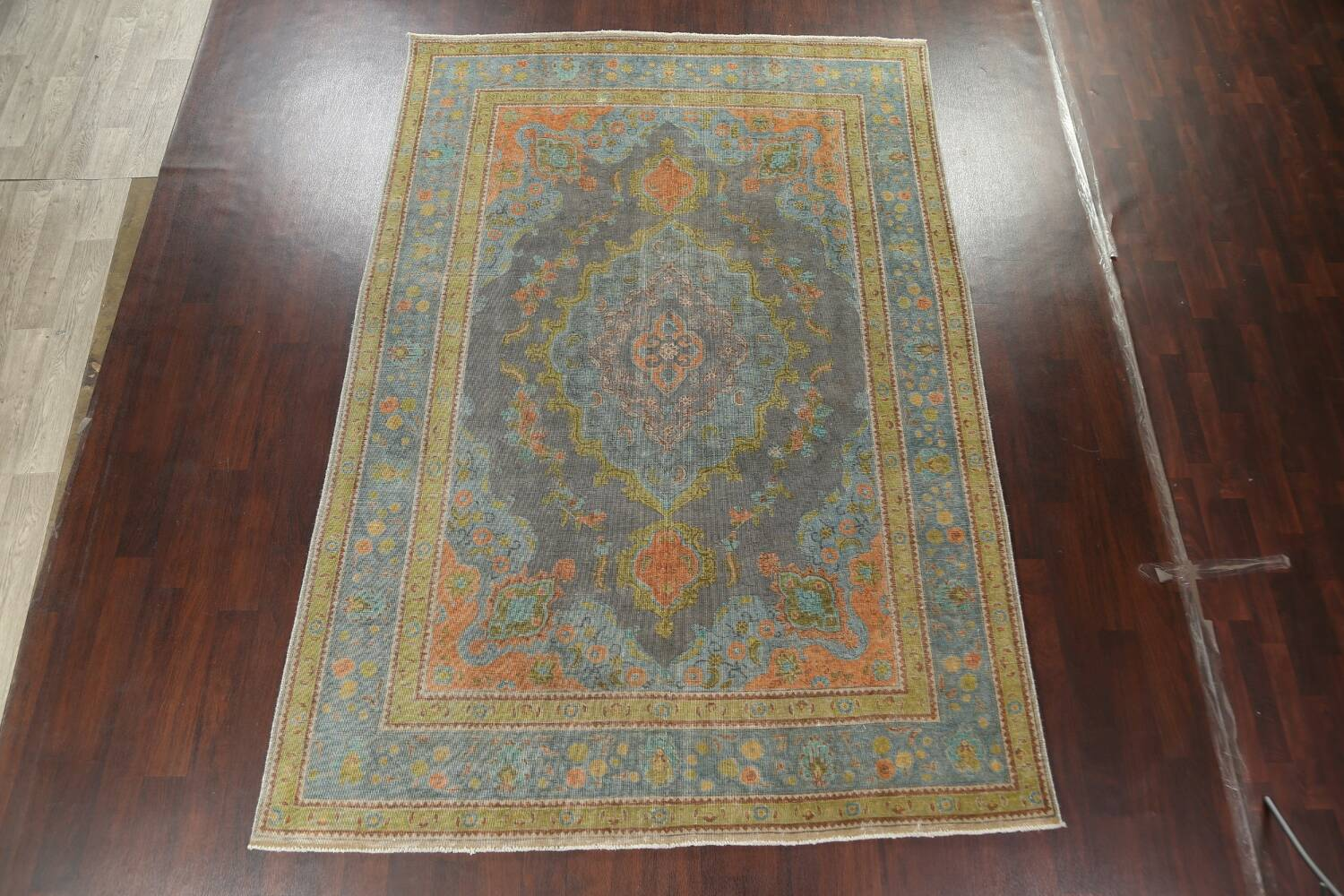 Antique Over-Dyed Tabriz Persian Area Rug 7x11 image 2