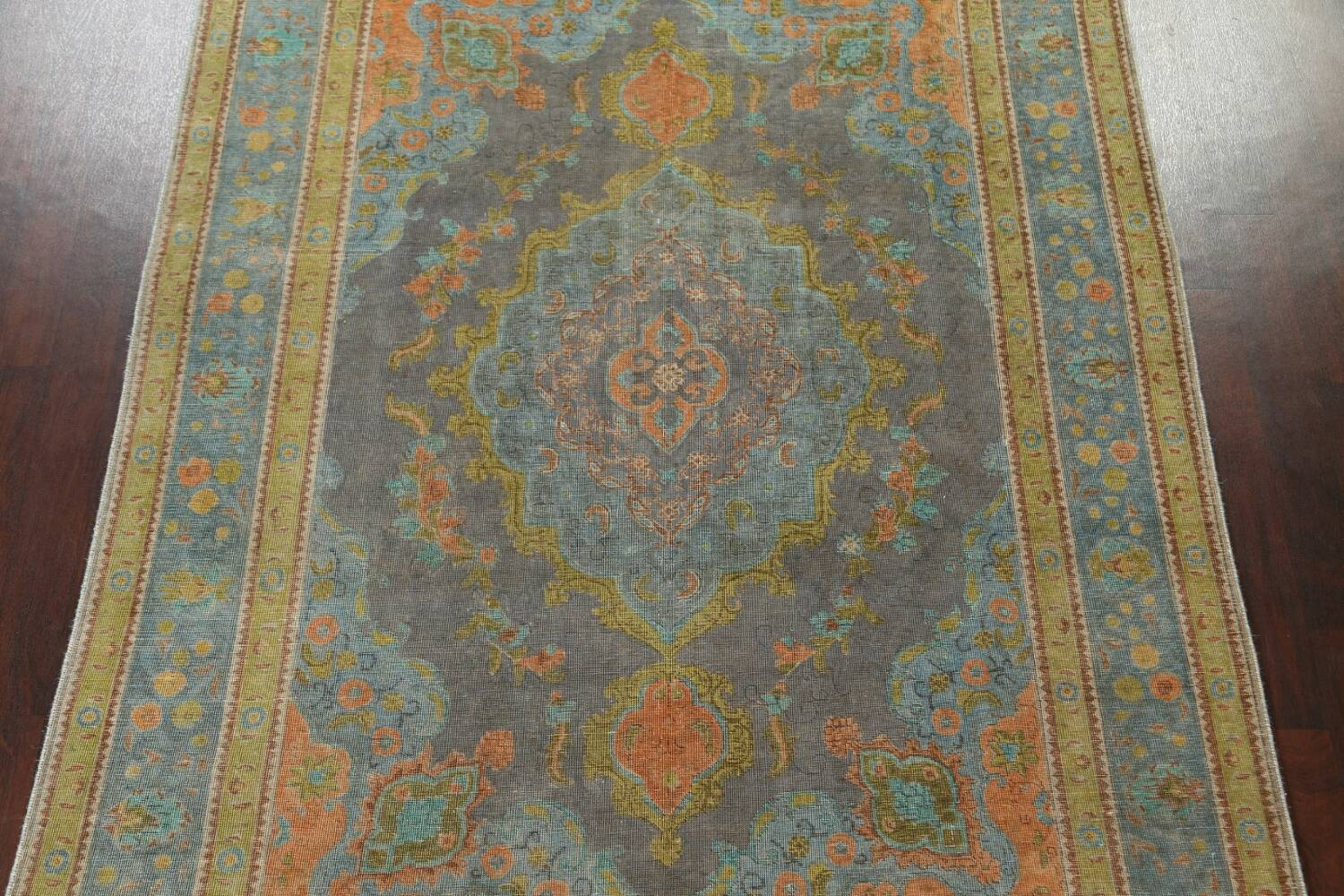 Antique Over-Dyed Tabriz Persian Area Rug 7x11 image 3