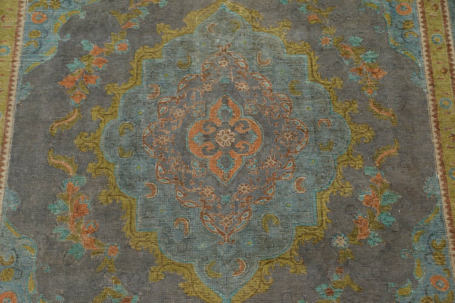 Antique Over-Dyed Tabriz Persian Area Rug 7x11 image 4