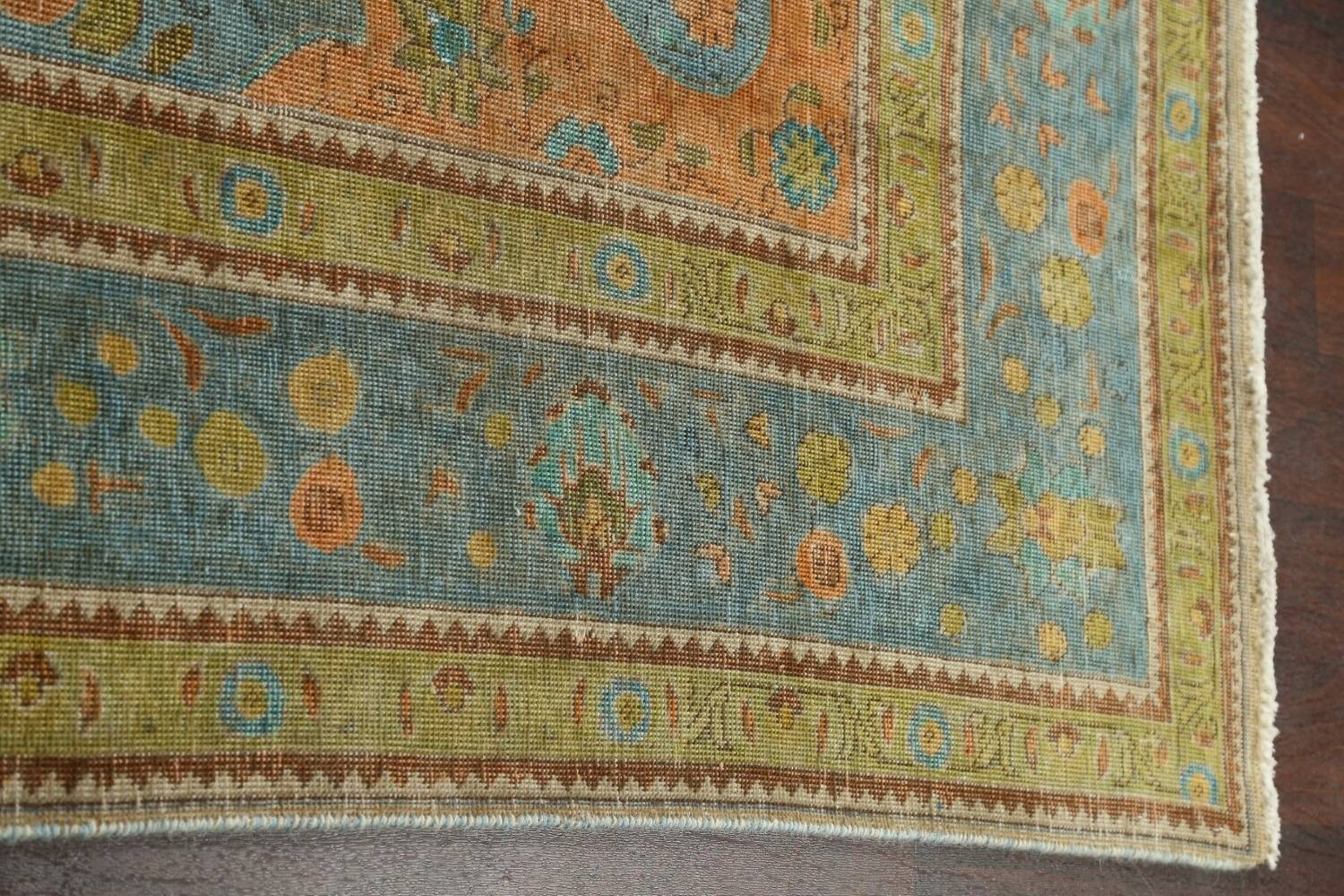 Antique Over-Dyed Tabriz Persian Area Rug 7x11 image 10