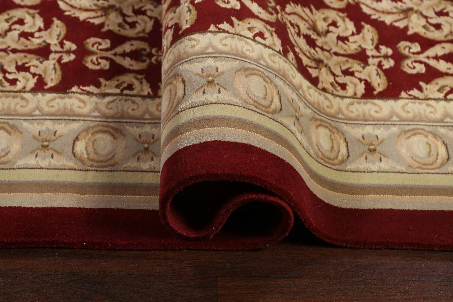 All-Over Red Aubusson Handmade Rug 10x14 image 11