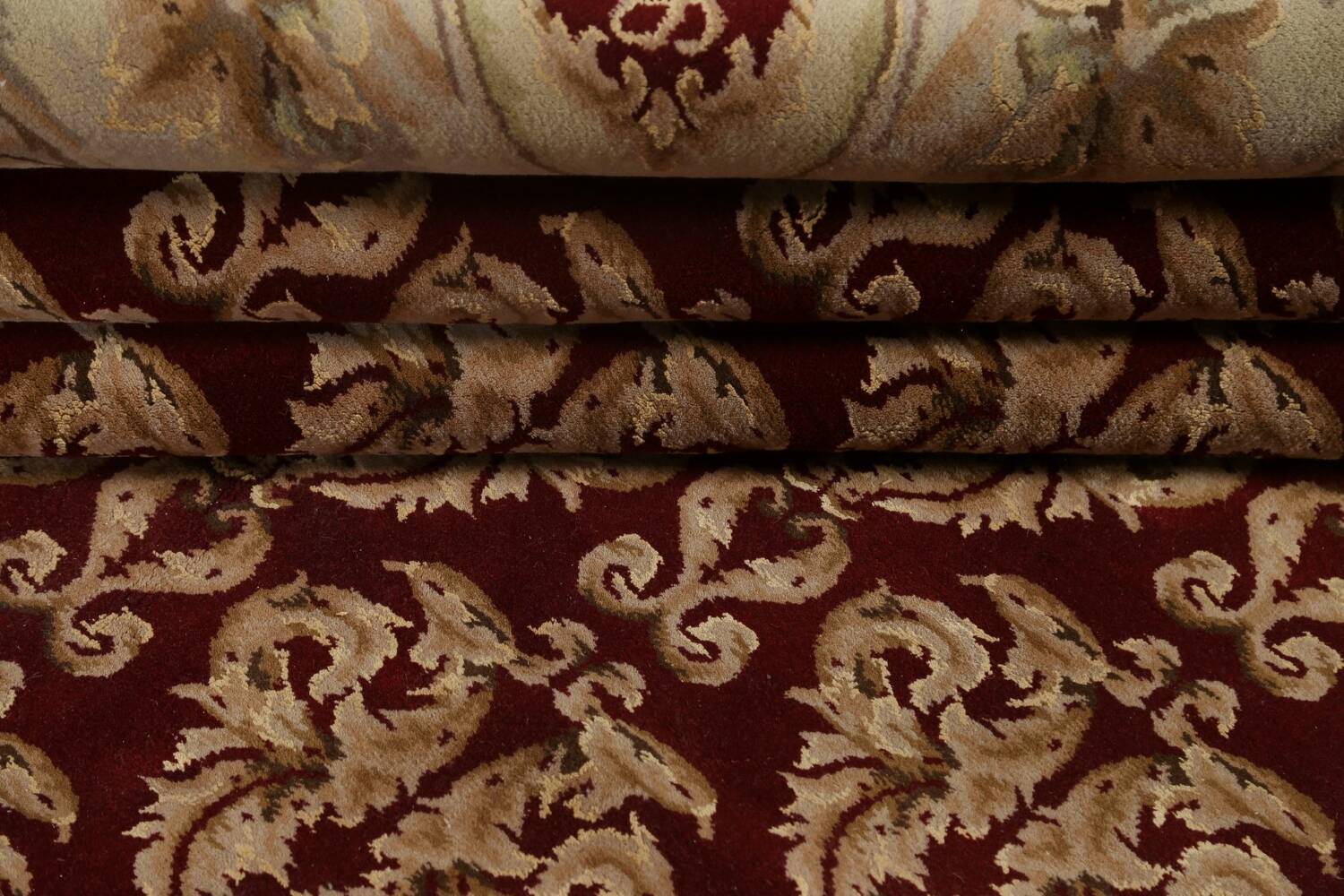 All-Over Red Aubusson Handmade Rug 10x14 image 14