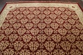 All-Over Red Aubusson Handmade Rug 10x14 image 9