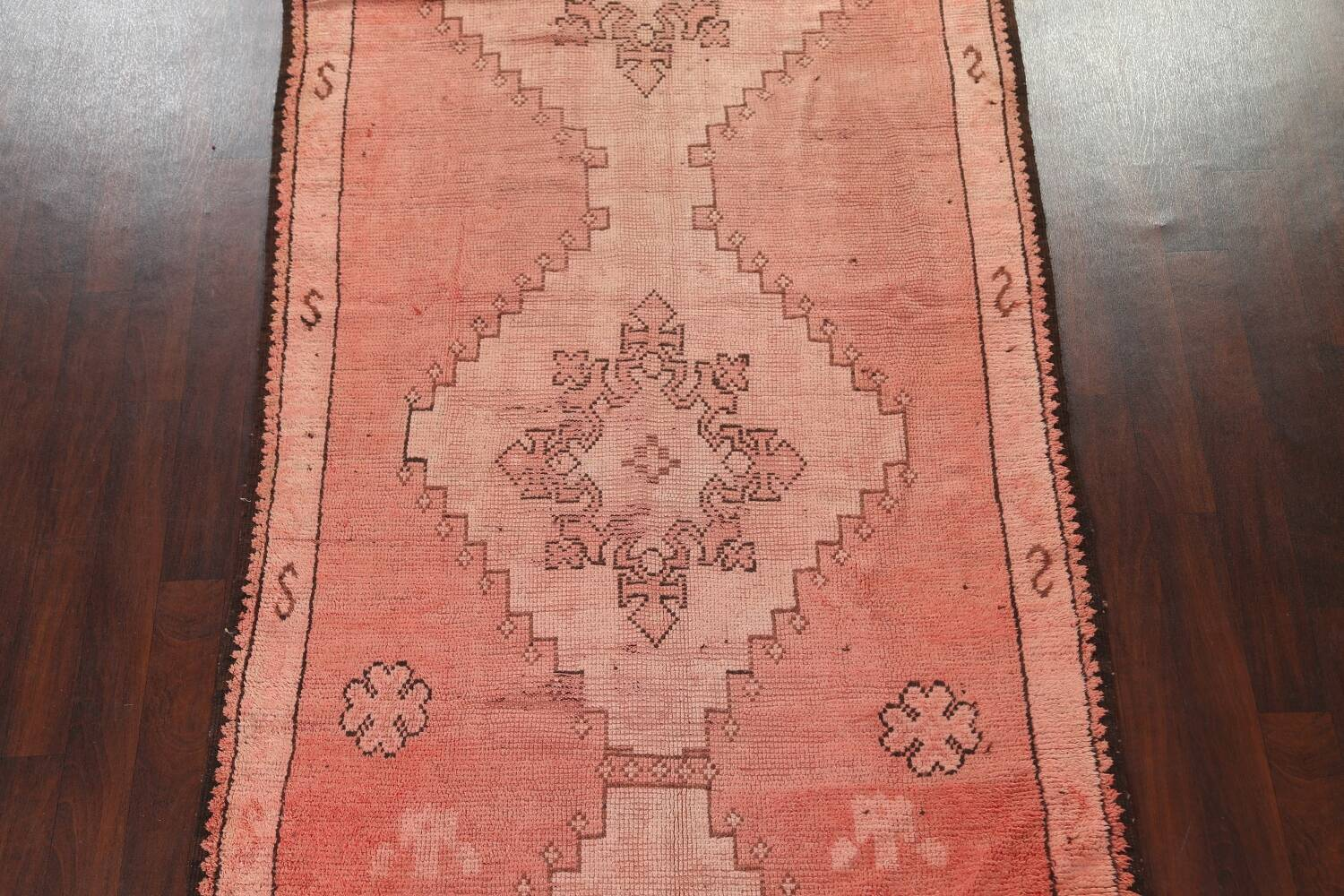 Antique Moroccan Wool Area Rug 5x12 image 3