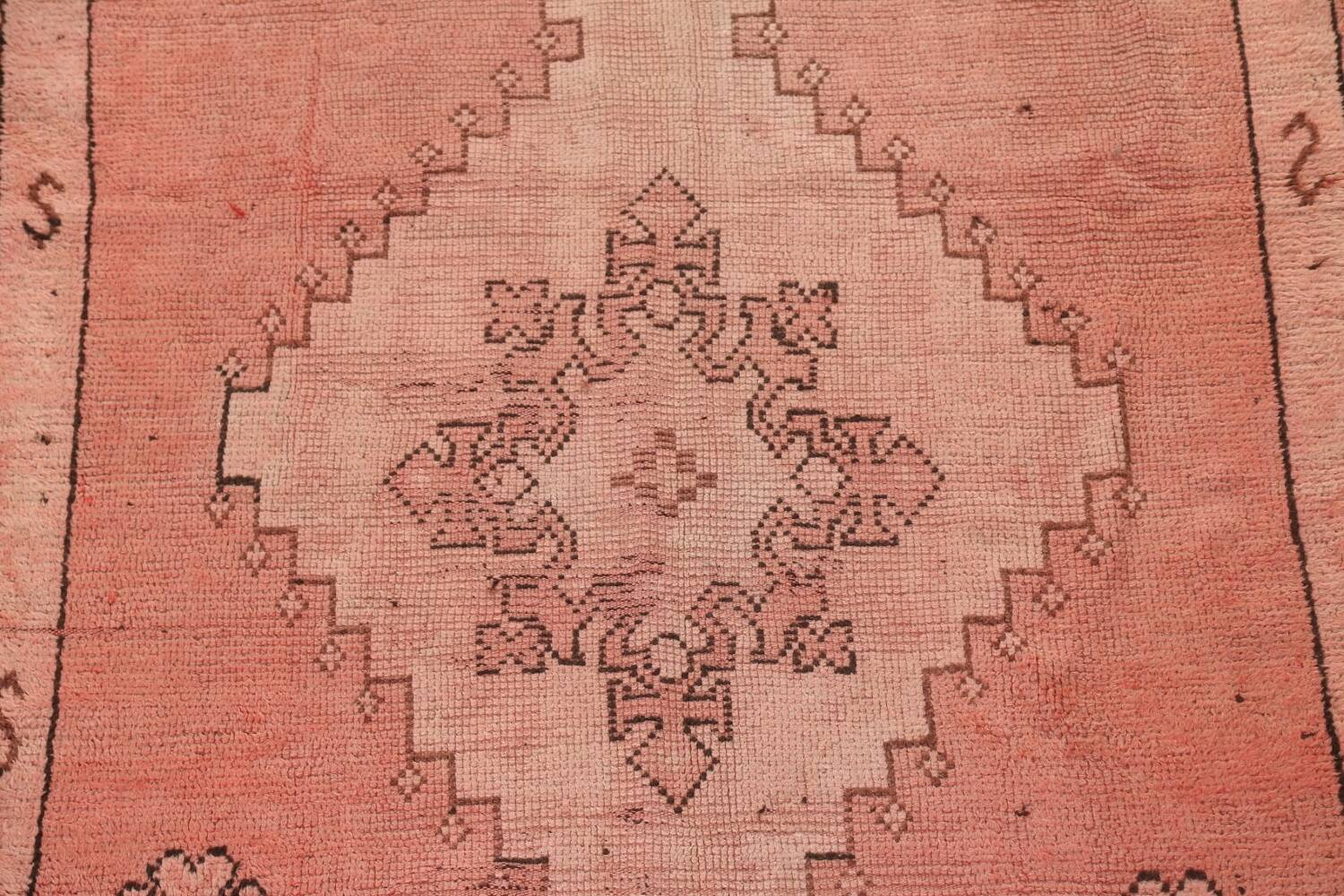 Antique Moroccan Wool Area Rug 5x12 image 4