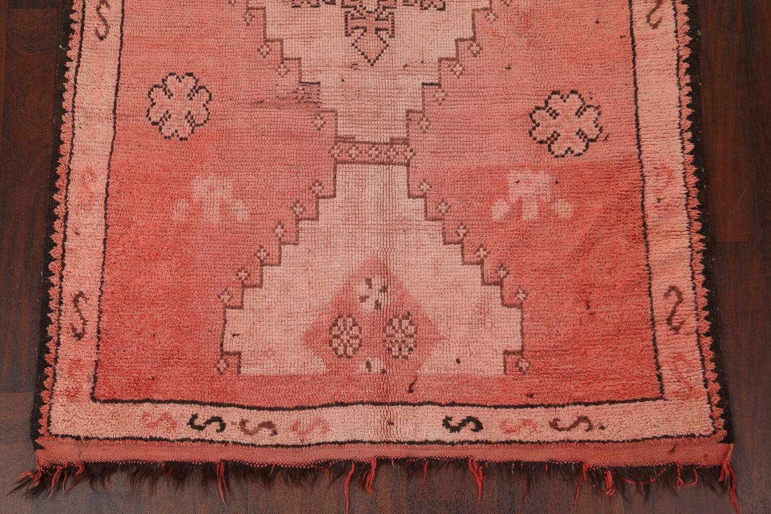 Antique Moroccan Wool Area Rug 5x12 image 5