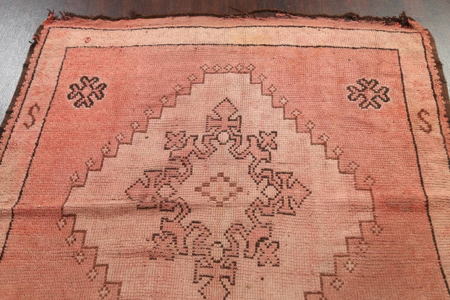 Antique Moroccan Wool Area Rug 5x12 image 9