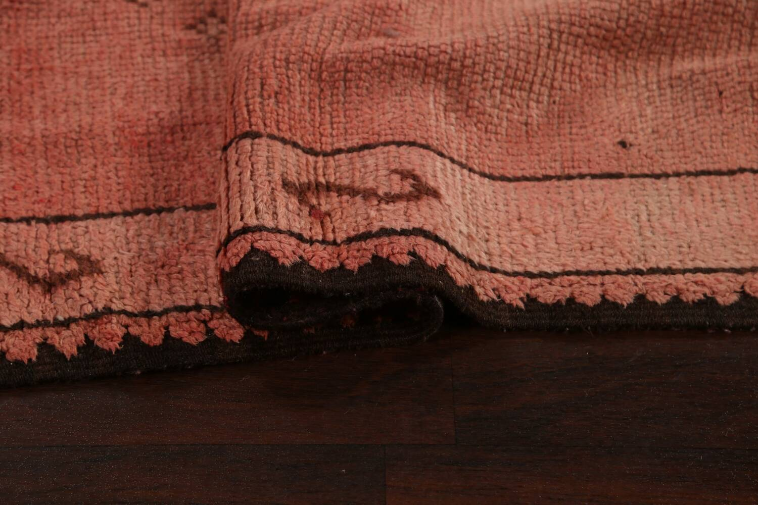 Antique Moroccan Wool Area Rug 5x12 image 11