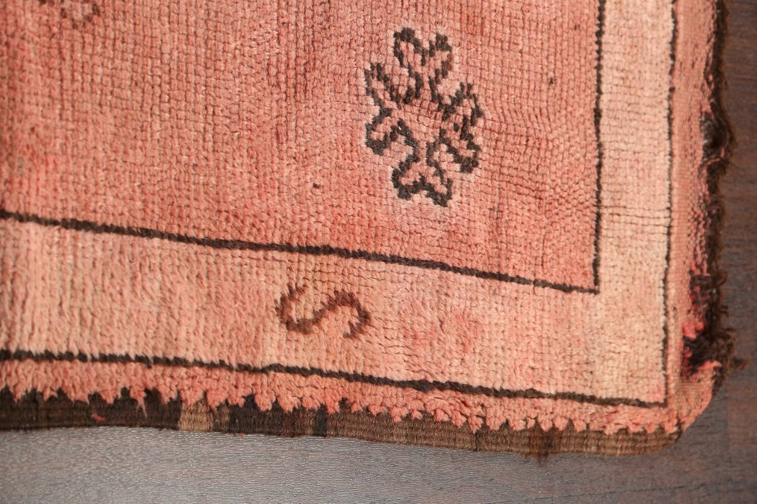 Antique Moroccan Wool Area Rug 5x12 image 10