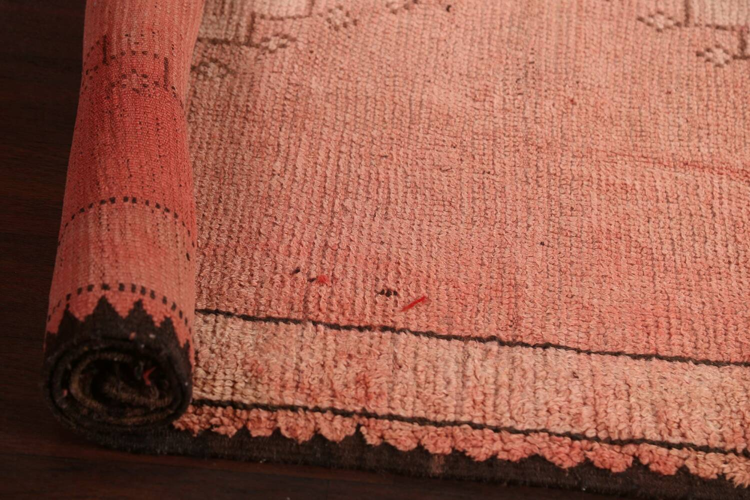 Antique Moroccan Wool Area Rug 5x12 image 14