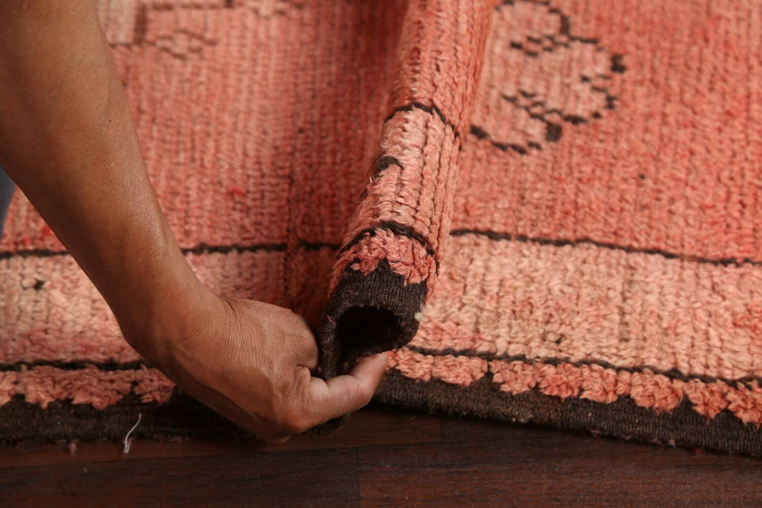 Antique Moroccan Wool Area Rug 5x12 image 15