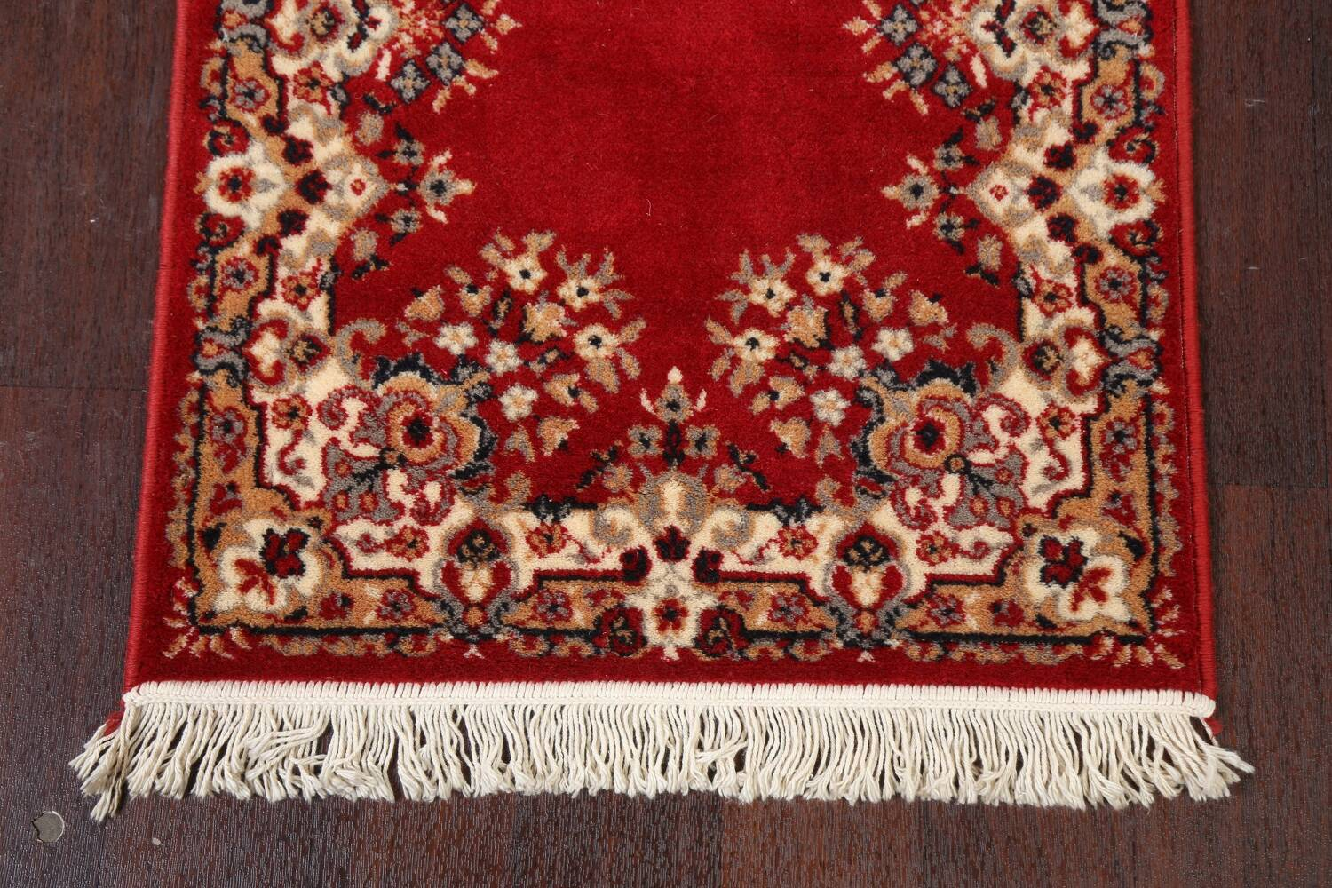 Red Floral Aubusson Oriental Rug 2x6 image 5