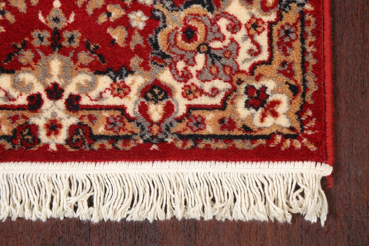 Red Floral Aubusson Oriental Rug 2x6 image 6