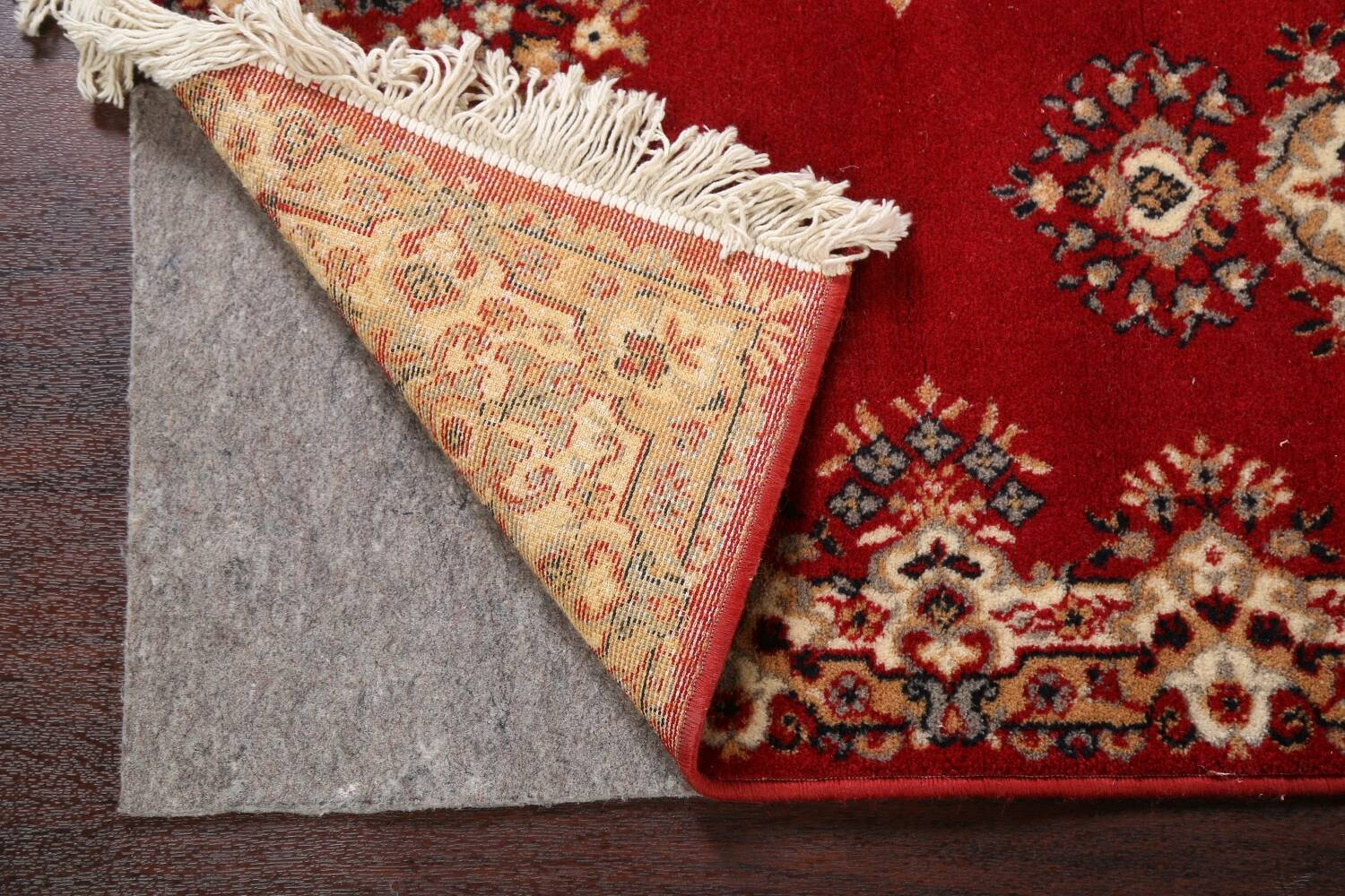 Red Floral Aubusson Oriental Rug 2x6 image 7