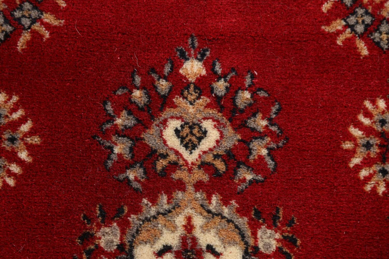 Red Floral Aubusson Oriental Rug 2x6 image 8