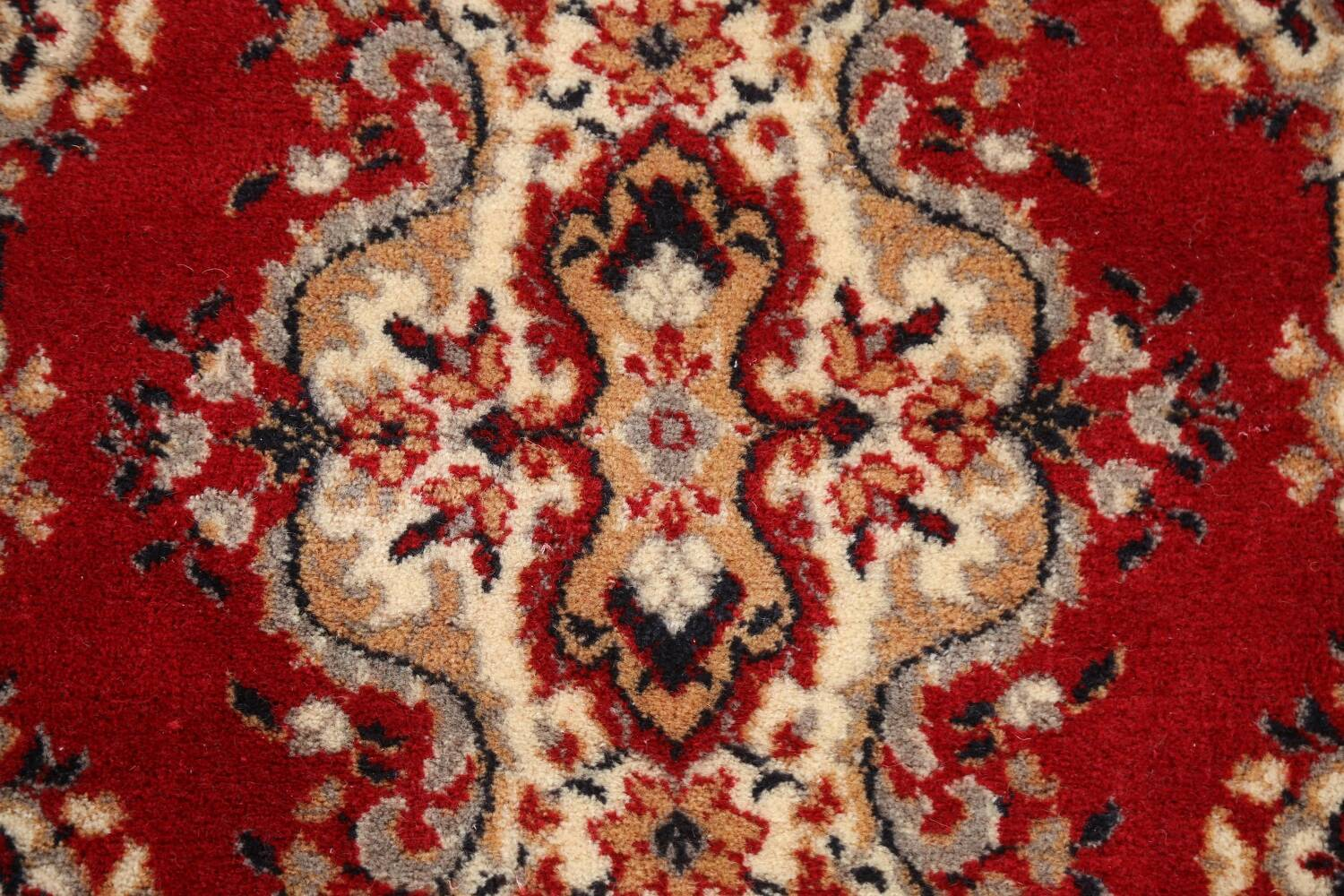 Red Floral Aubusson Oriental Rug 2x6 image 9