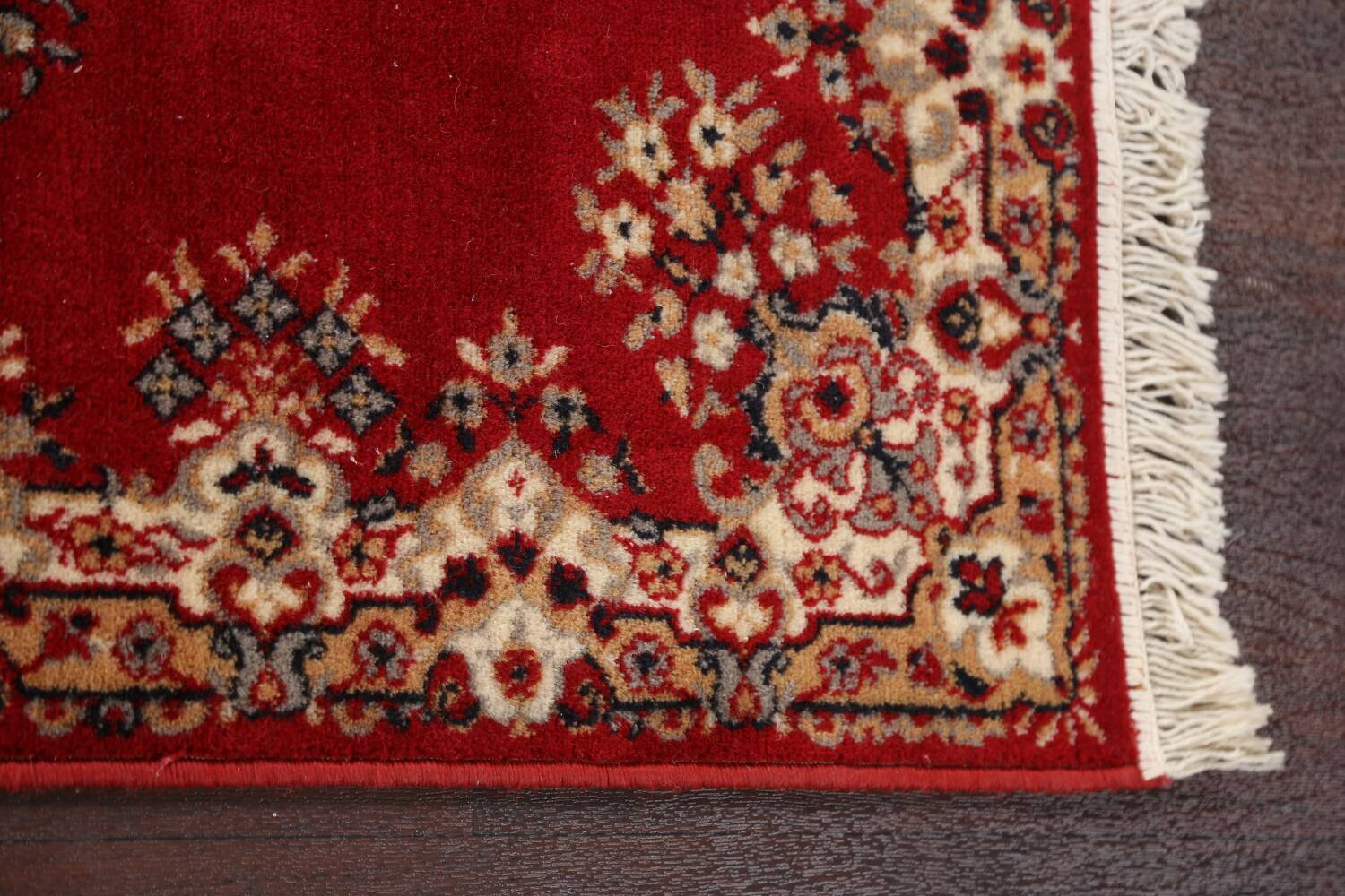 Red Floral Aubusson Oriental Rug 2x6 image 12