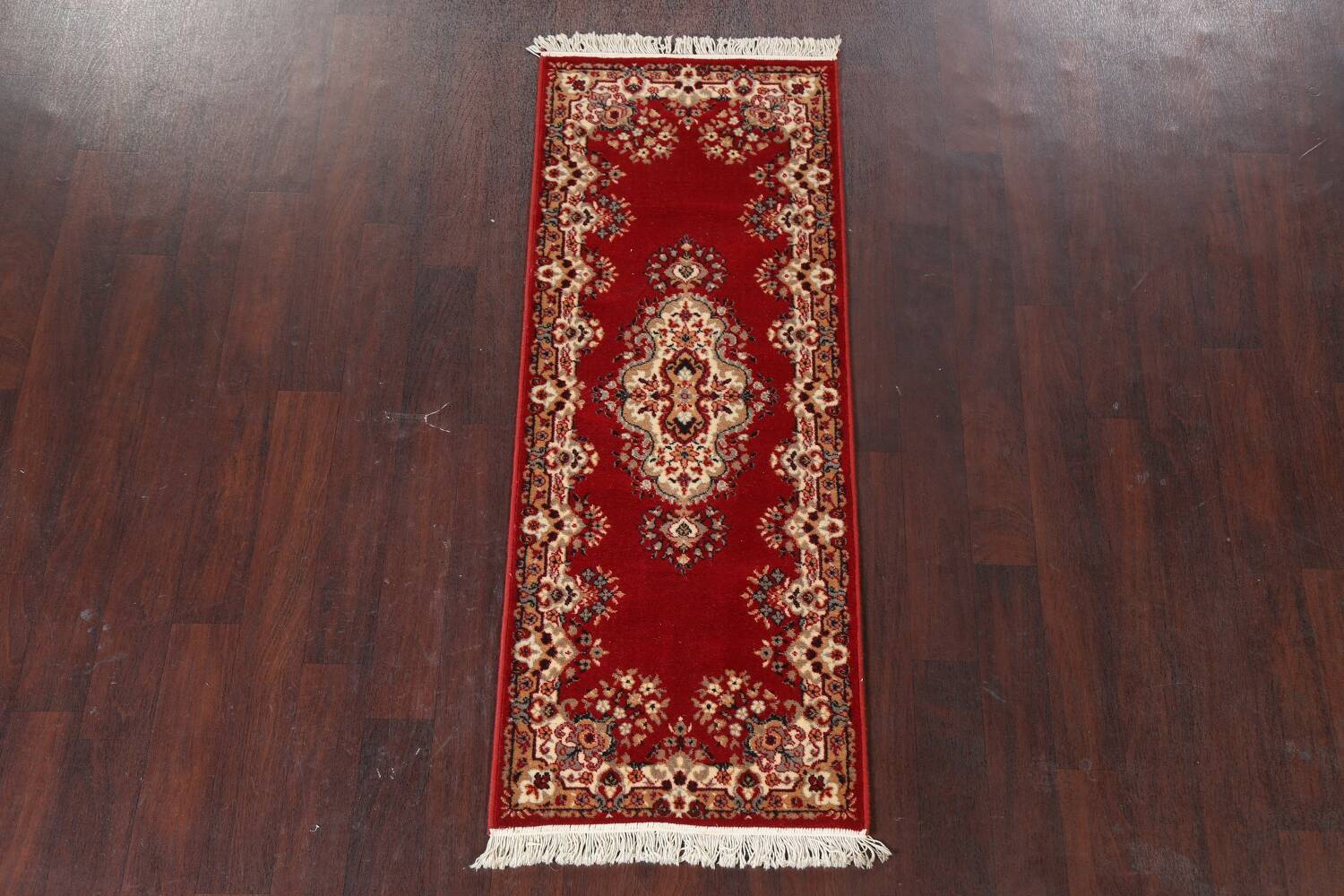 Red Floral Aubusson Oriental Rug 2x6 image 14