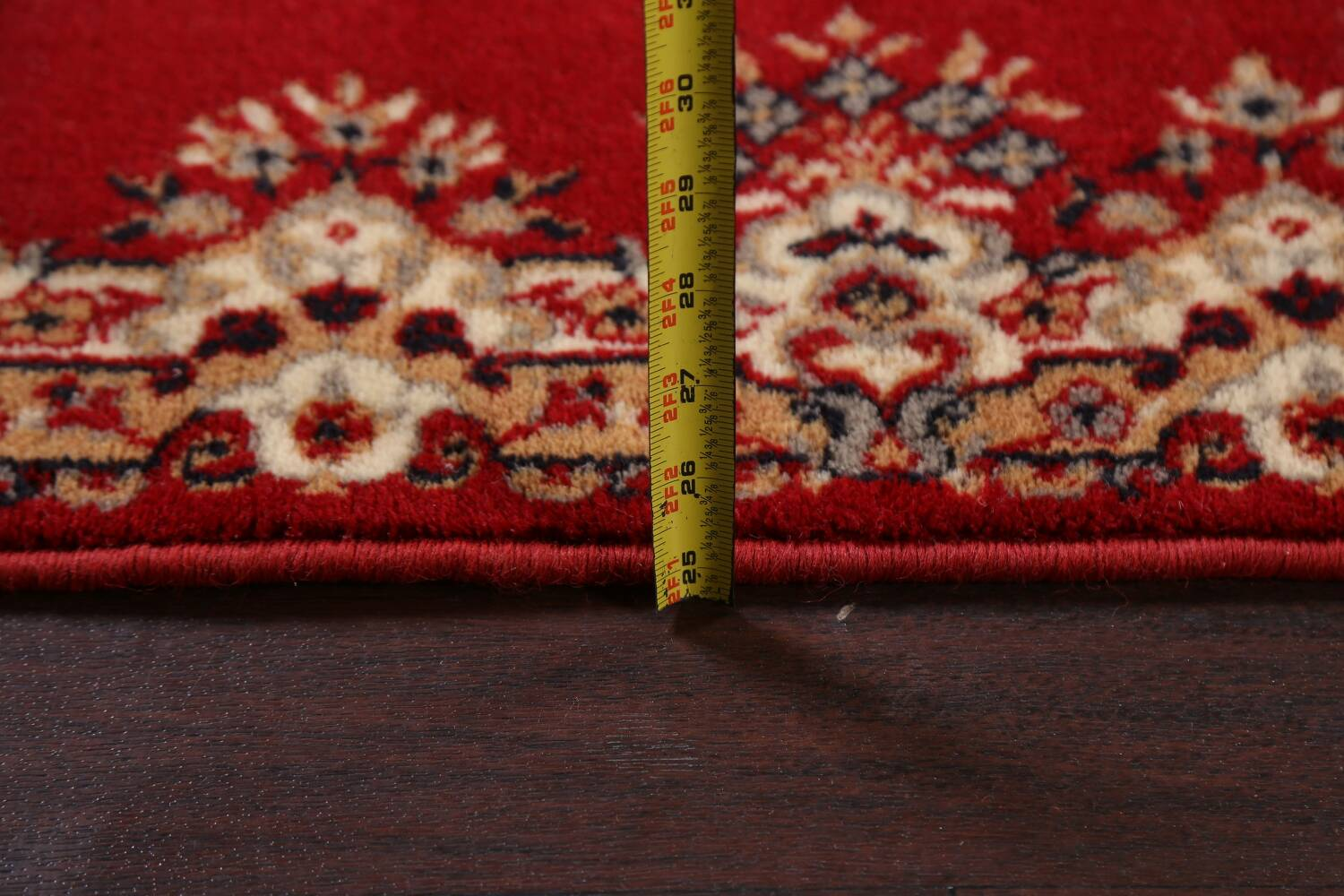 Red Floral Aubusson Oriental Rug 2x6 image 17