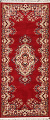 Red Floral Aubusson Oriental Rug 2x6 image 1