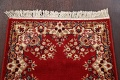 Red Floral Aubusson Oriental Rug 2x6 image 11