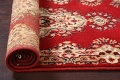 Red Floral Aubusson Oriental Rug 2x6 image 15