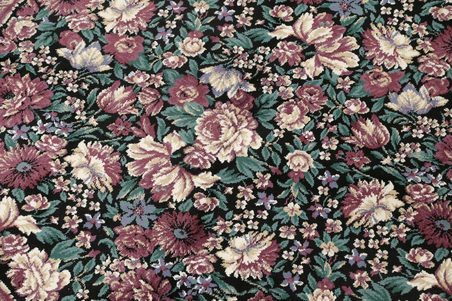 Floral Aubusson Round Area Rug 8x8 image 4