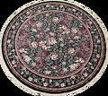 Floral Aubusson Round Area Rug 8x8 image 1