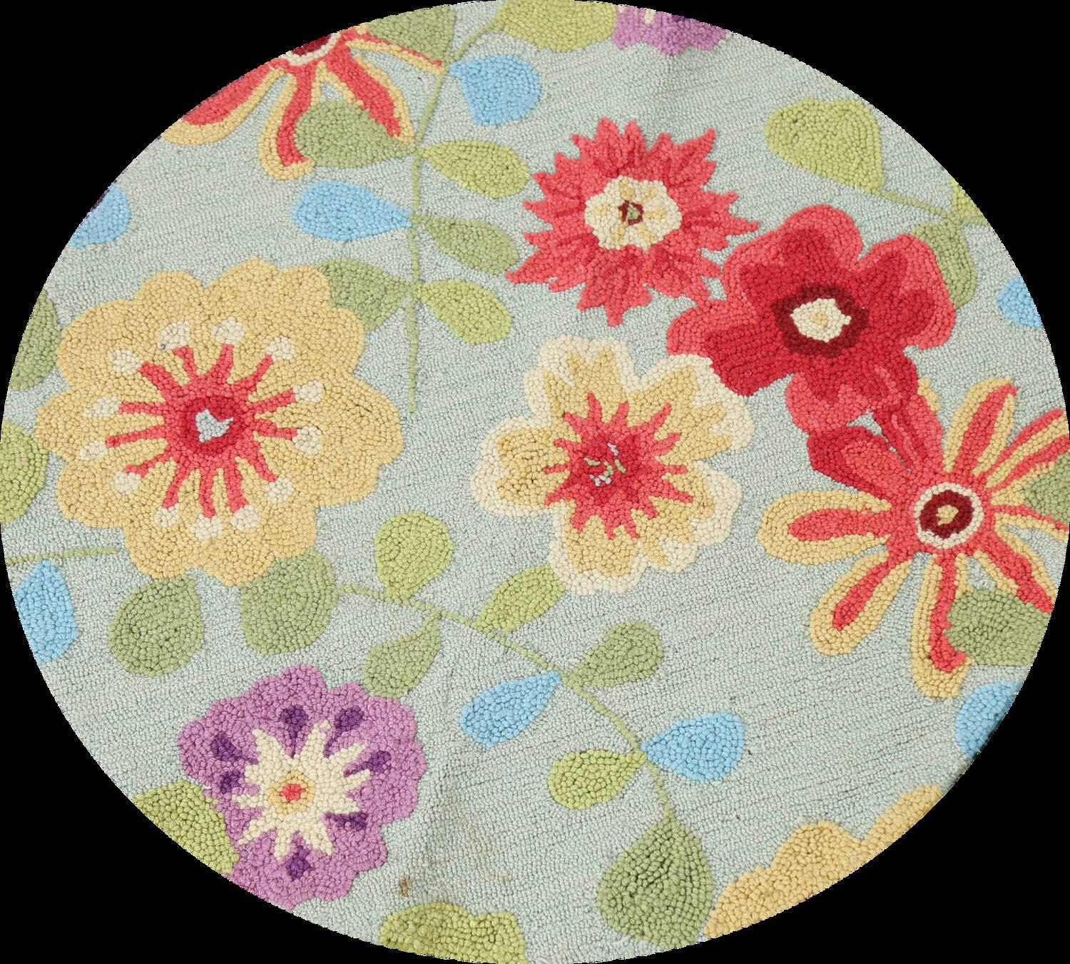 Contemporary Abstract Round Rug 3x3 image 1