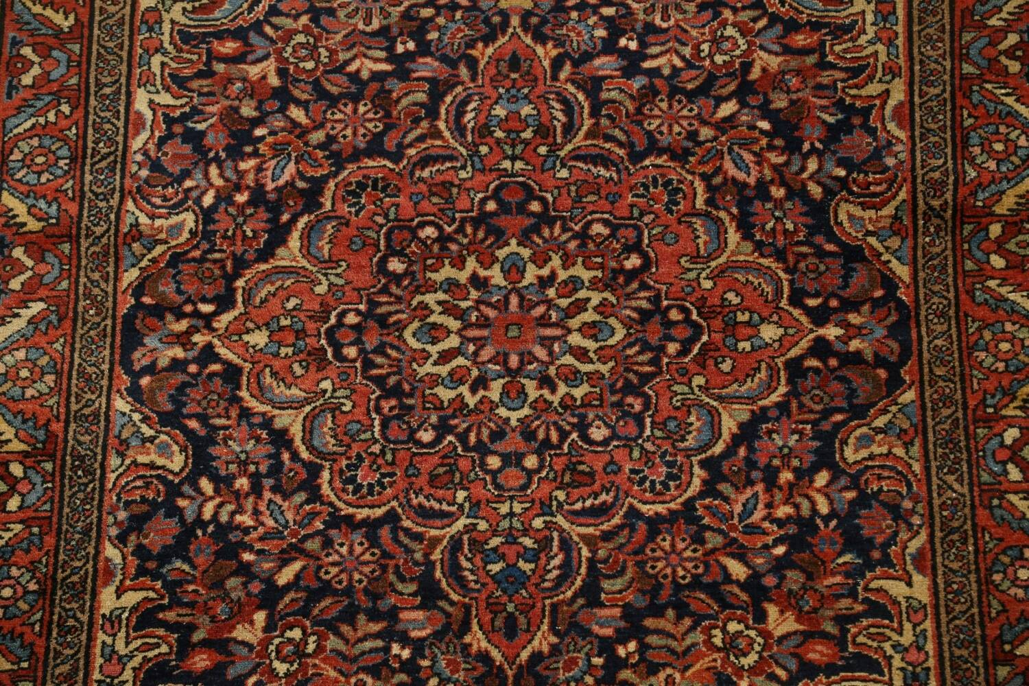 Antique Vegetable Dye Malayer Persian Area Rug 5x6 image 4
