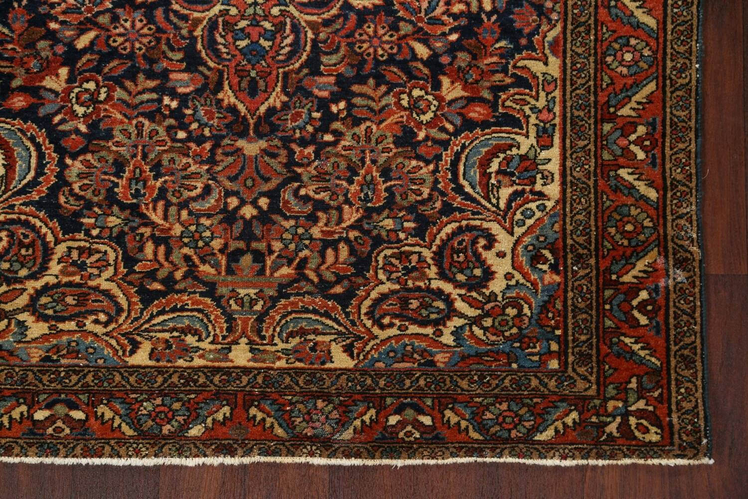Antique Vegetable Dye Malayer Persian Area Rug 5x6 image 6